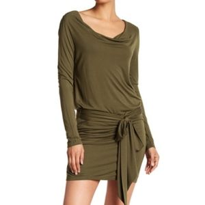 Haute Hippie Olive Green Wrap Backless Dress